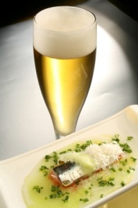 sardina asturias y cerveza