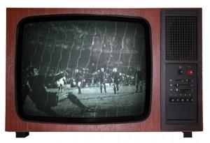 Televisión con imágenes antiguas