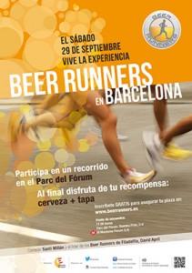 Cartel Beer Runner Barcelona