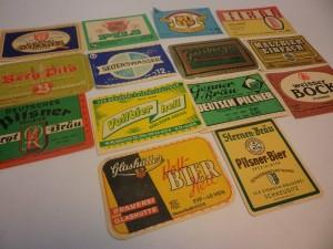 Colección de etiquetas de cerveza