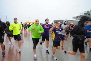 Corriendo en la lluvia
