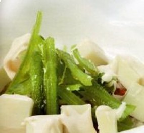 Ensalada de borrajas con queso