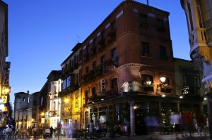 Foto de una calle de tapeo típica de la ciudad de León