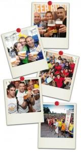Recopilatorio de fotos de momentos cerveceros en las carreras Beer Runners