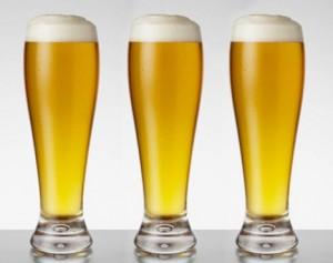 Tres cervezas de trigo