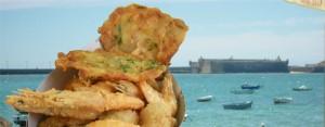 Cucurucho de marisco frito