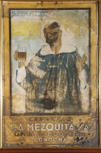 Placa de la cerveza mezquita con la imagen de un jeque