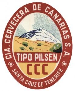 Etiqueta de la Compañía Cervecera de Canarias