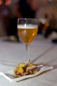Cerveza de trigo con pirulí de pintada
