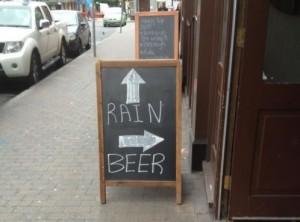 ¿Lluvia o cerveza?