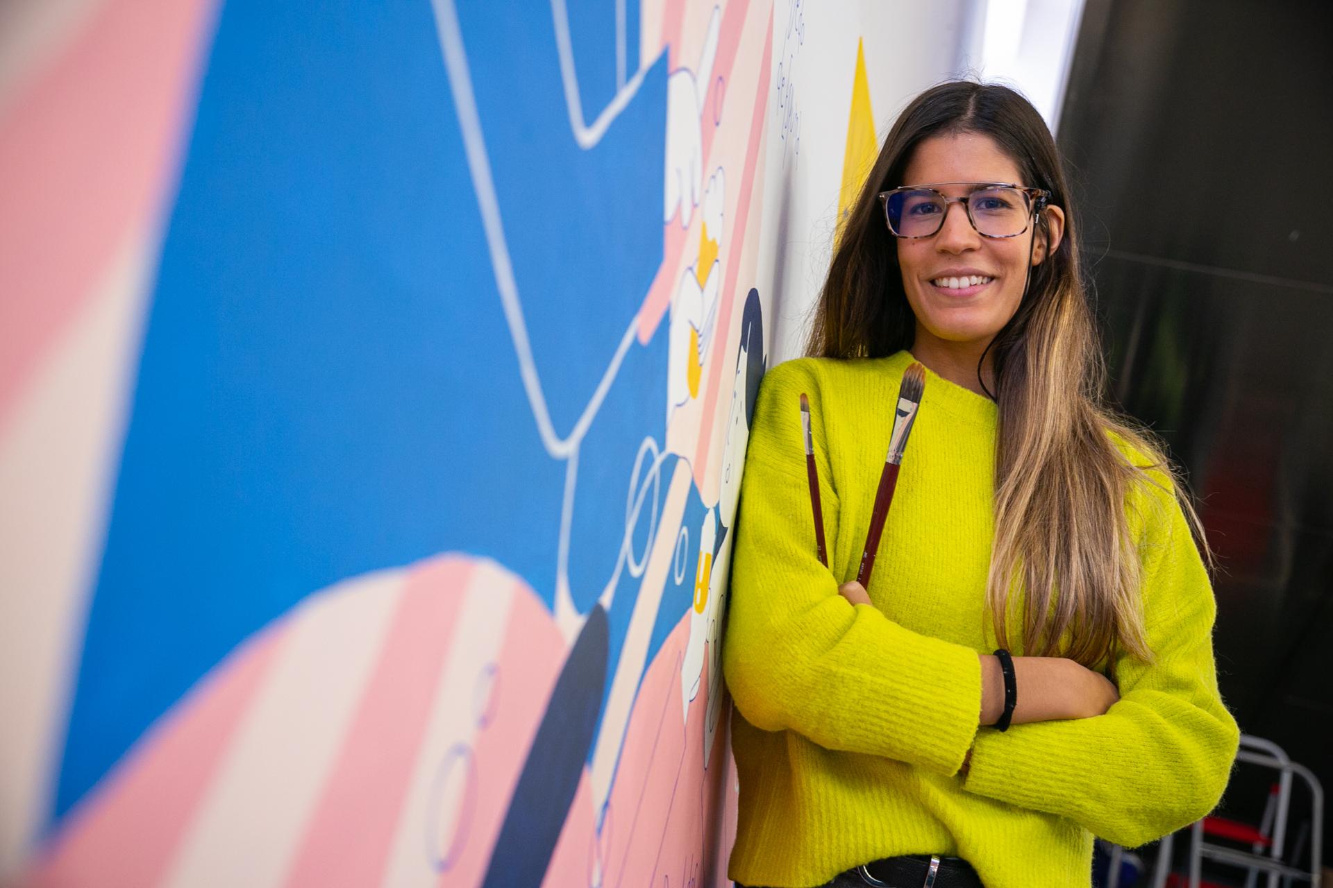 Andrea García, ganadora Un Dedo De Espuma